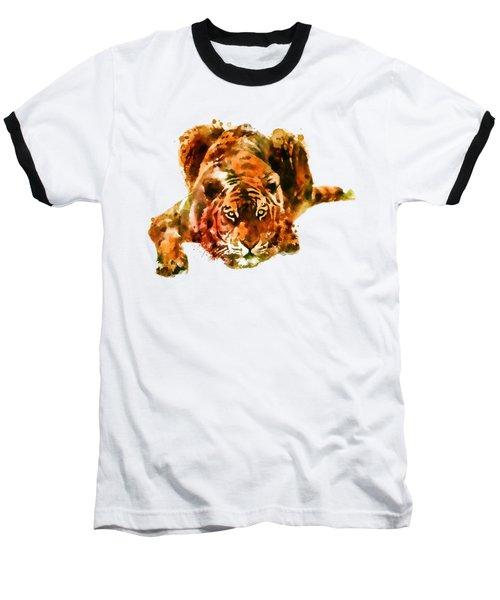 Lurking Tiger Baseball T-Shirt