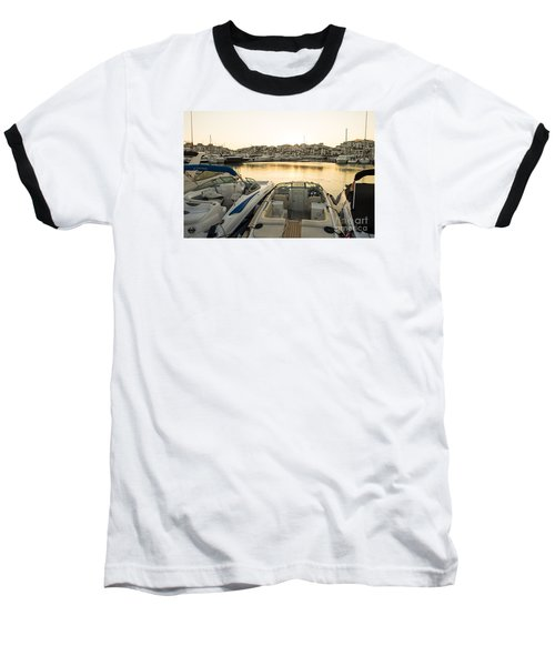 Luxury Yachts Puerto Banus Baseball T-Shirt by Perry Van Munster