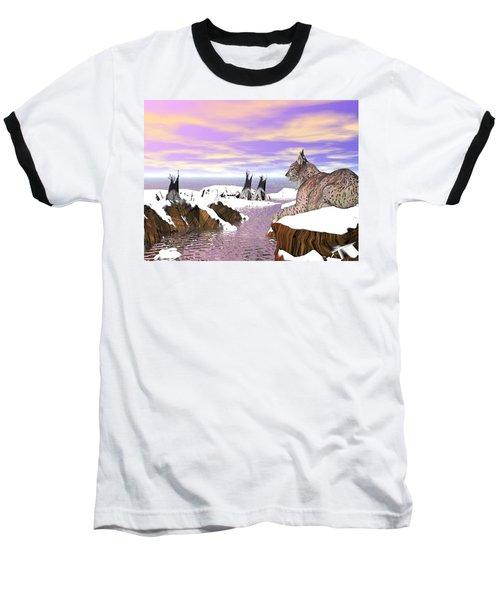 Lynx Watcher Render Baseball T-Shirt