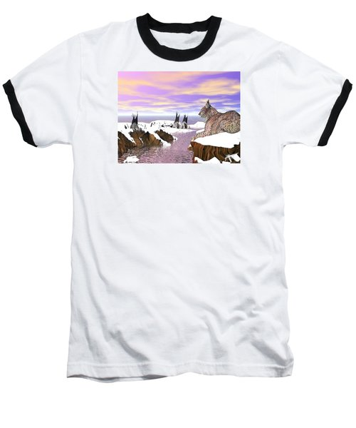 Lynx Watcher Render Baseball T-Shirt