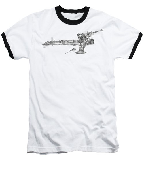 M198 Howitzer - Natural Sized Prints Baseball T-Shirt