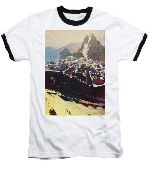 Machu Picchu Morning Baseball T-Shirt