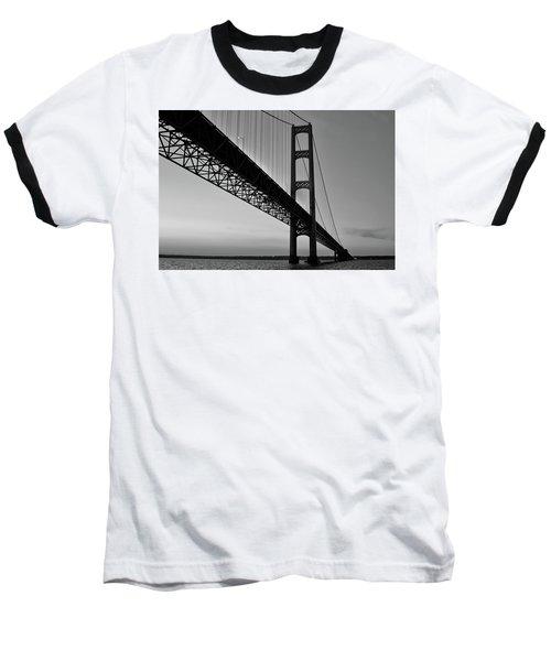 Mackinac Bridge At Sunset Baseball T-Shirt