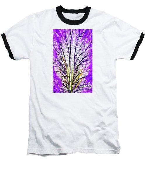 Macro Iris Petal Baseball T-Shirt