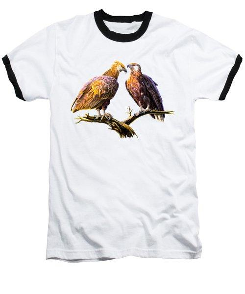 Madagascar Fish Eagle  Baseball T-Shirt by Anthony Mwangi