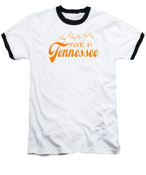 Baseball T-Shirt featuring the digital art Made In Tennessee Orange by Heather Applegate