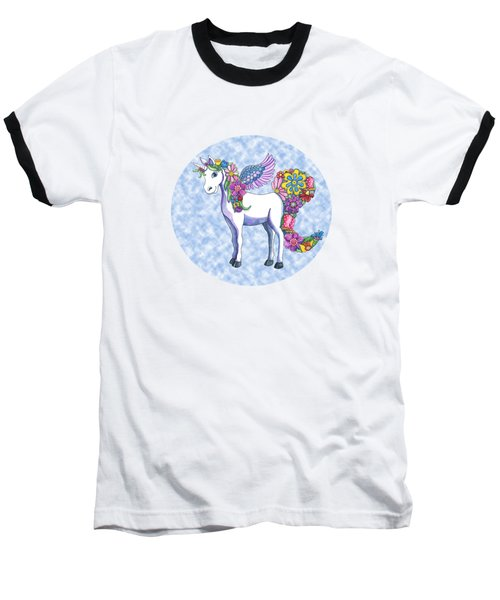 Madeline The Magic Unicorn 2 Baseball T-Shirt by Shelley Wallace Ylst