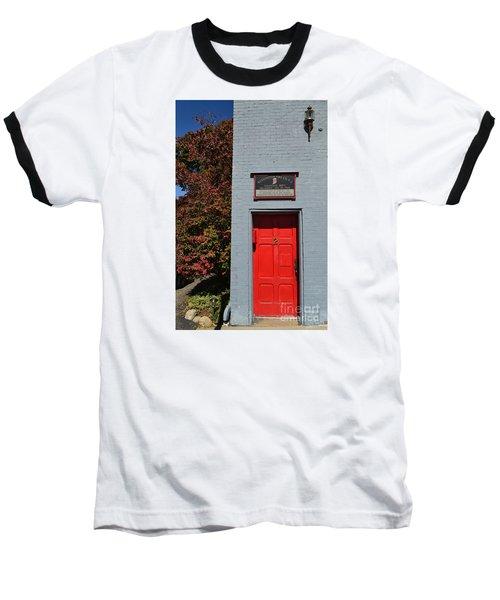 Madison Red Fire House Door Baseball T-Shirt