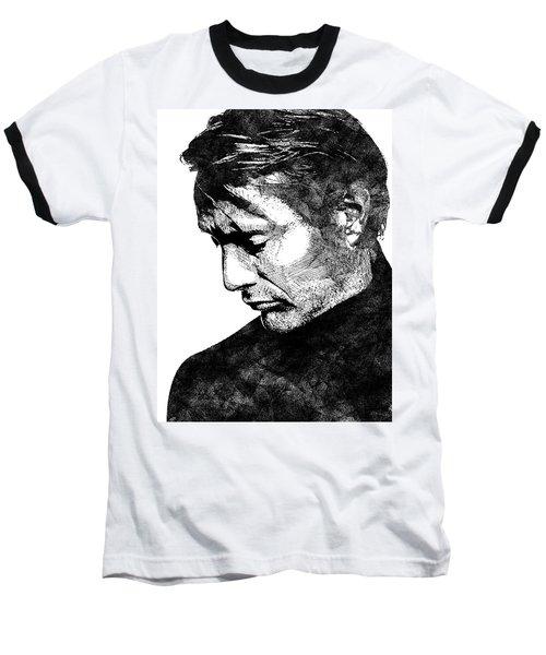 Mads Mikkelsen Baseball T-Shirt by Mihaela Pater