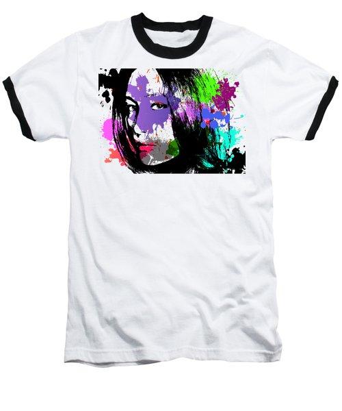 Maggie Q Pop Art Baseball T-Shirt