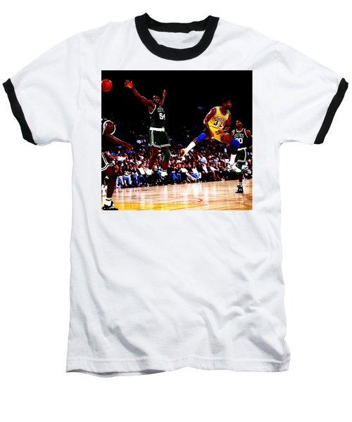 Magic Johnson No Look Pass 7a Baseball T-Shirt