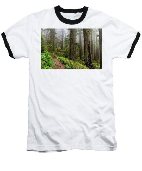 Magical Forest Baseball T-Shirt by Scott Warner