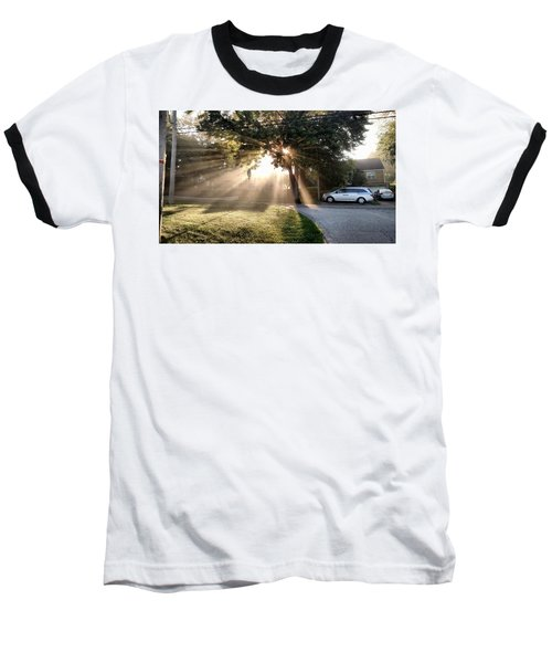 Baseball T-Shirt featuring the painting Magical Morning by James Guentner