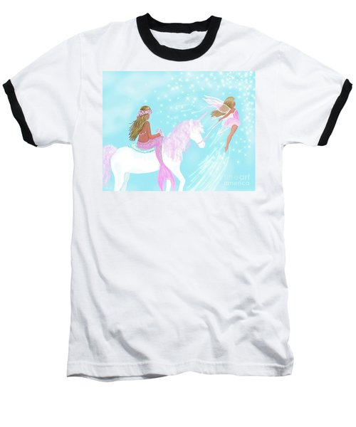 Baseball T-Shirt featuring the painting Magical Play Day by Leslie Allen