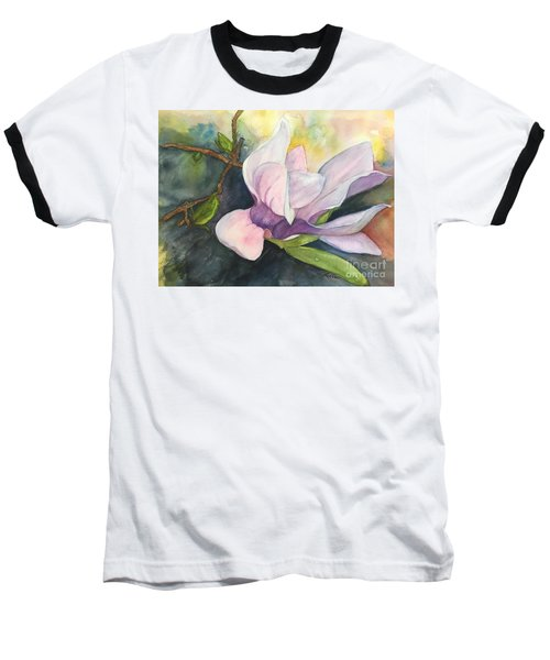Magnificent Magnolia Baseball T-Shirt by Lucia Grilletto