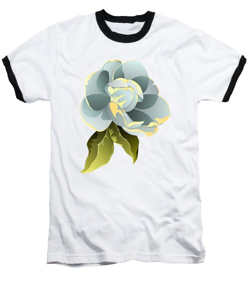 Magnolia Blossom Graphic Baseball T-Shirt