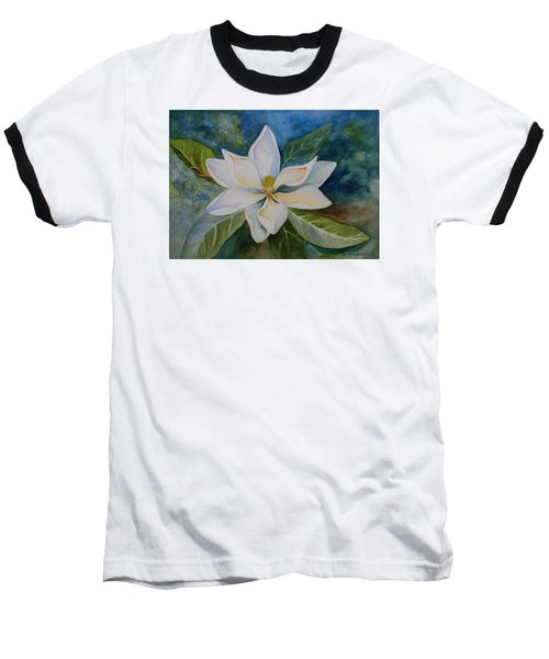 Baseball T-Shirt featuring the painting Magnolia by Kerri Ligatich