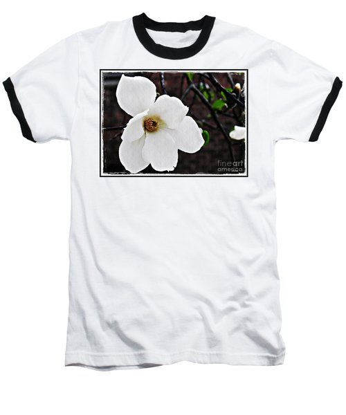 Magnolia Memories 1 Baseball T-Shirt by Sarah Loft