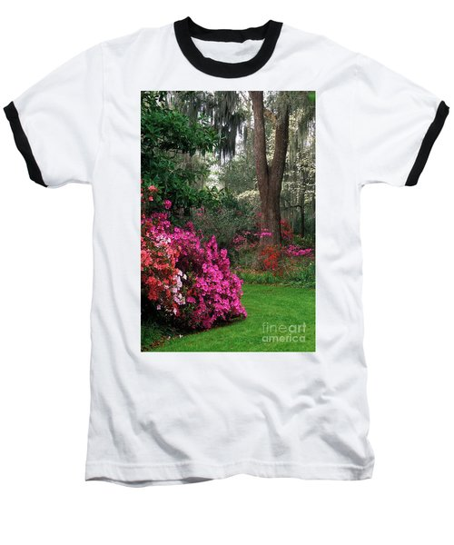 Baseball T-Shirt featuring the photograph Magnolia Plantation - Fs000148a by Daniel Dempster