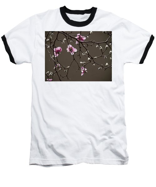 Magnolias In Bloom Baseball T-Shirt by Rob Amend