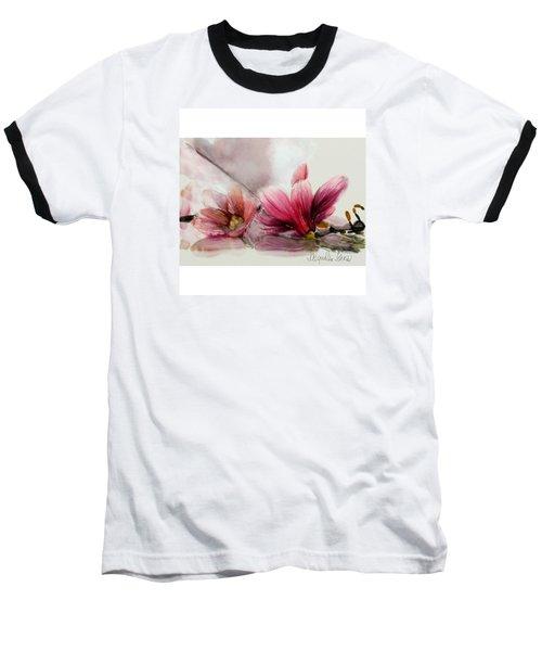 Magnolien .... Baseball T-Shirt by Jacqueline Schreiber