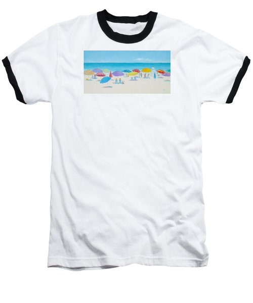 Main Beach East Hampton  Baseball T-Shirt
