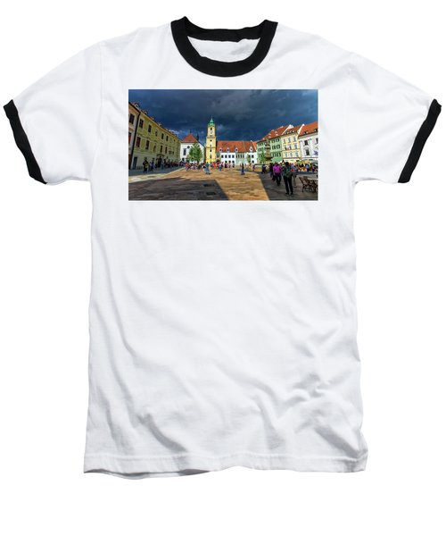 Main Square In The Old Town Of Bratislava, Slovakia Baseball T-Shirt