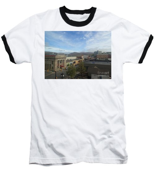 Main St To The Mountains   Baseball T-Shirt by Christina Verdgeline