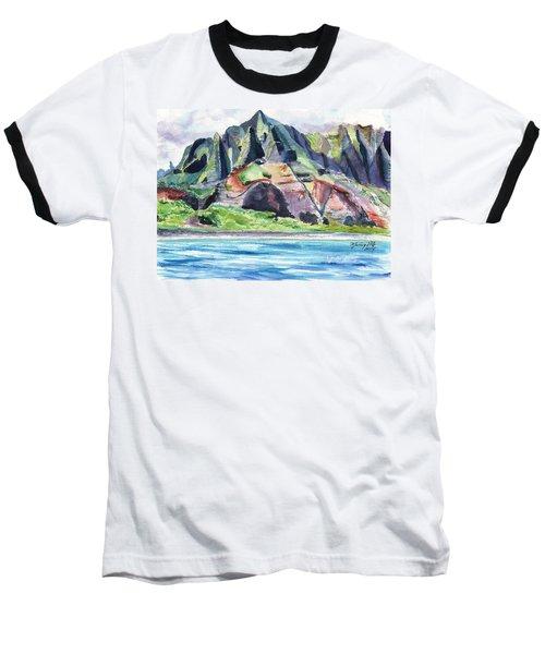 Majestic Na Pali Coast Baseball T-Shirt