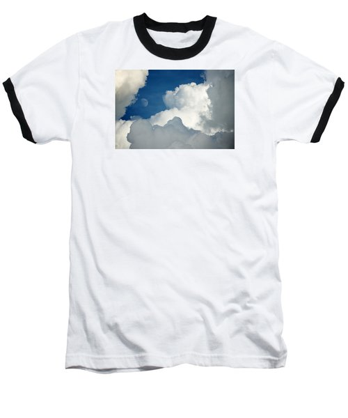 Majestic Storm Clouds With Moon Baseball T-Shirt