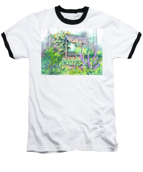 Baseball T-Shirt featuring the painting Make A Wish by Val Stokes