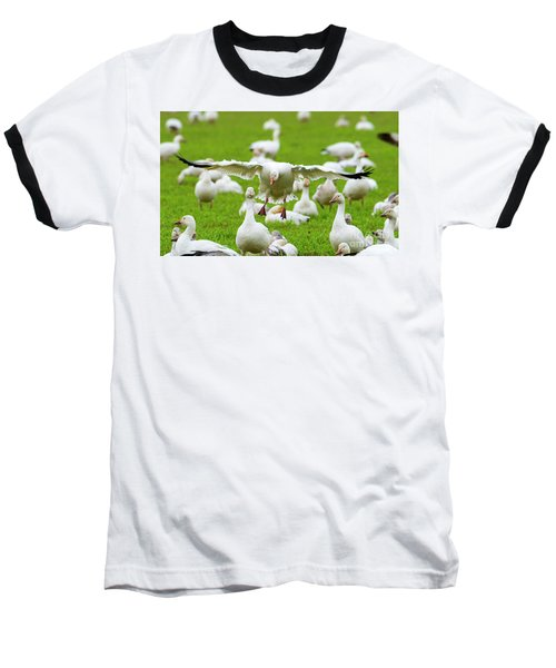 Baseball T-Shirt featuring the photograph Make Room by Mike Dawson