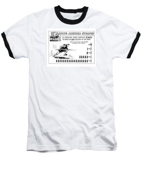 Making America Strong Cartoon Baseball T-Shirt