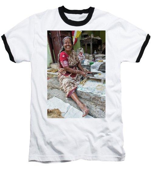 Making Chapatti Baseball T-Shirt