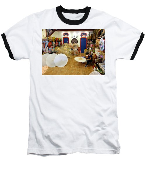 Making Chinese Paper Umbrellas Baseball T-Shirt