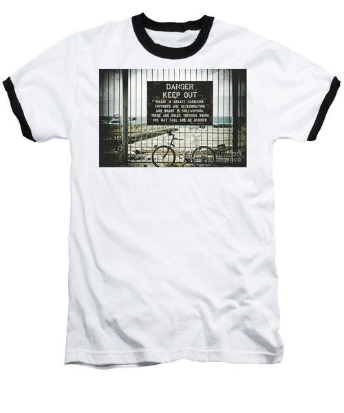 Baseball T-Shirt featuring the photograph Mala Wharf Lahaina Maui Hawaii by Sharon Mau