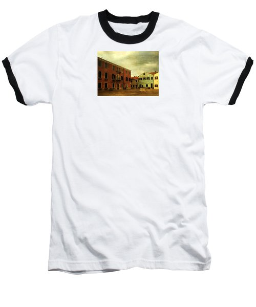 Baseball T-Shirt featuring the photograph Malamocco Piazza No1 by Anne Kotan
