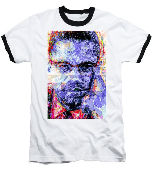 Malcolm X Digitally Painted 1 Baseball T-Shirt