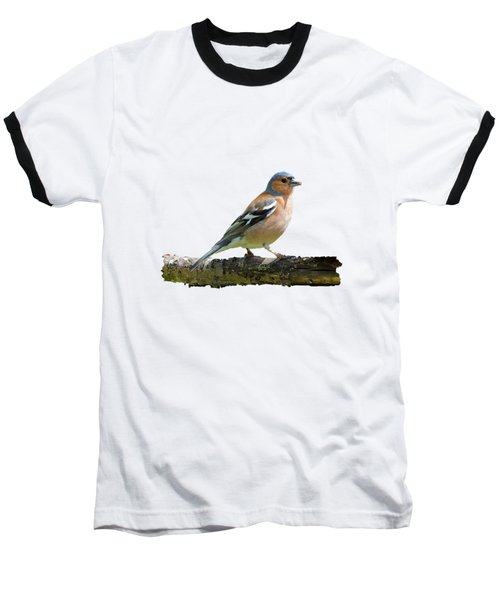 Baseball T-Shirt featuring the photograph Male Chaffinch, Transparent Background by Paul Gulliver