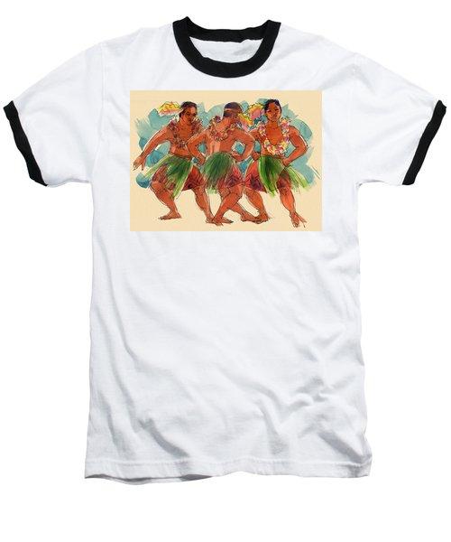 Male Dancers Of Lifuka, Tonga Baseball T-Shirt