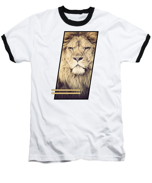 Male Lion Baseball T-Shirt by Sven Horn
