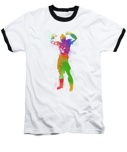 Male Watercolor Pose 1 Baseball T-Shirt