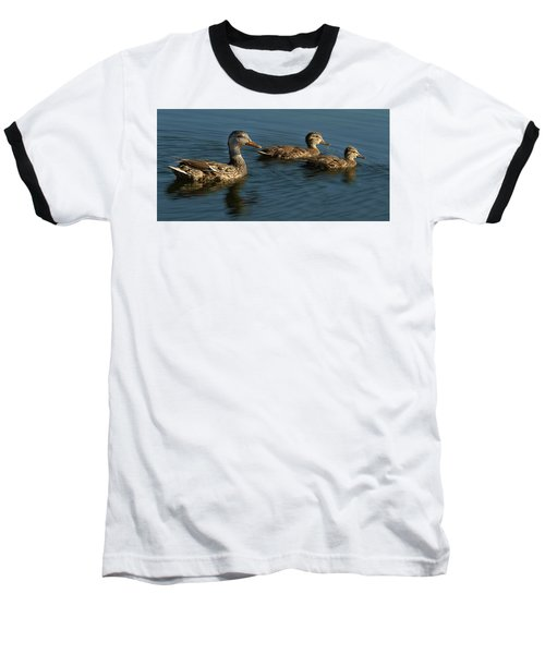 Baseball T-Shirt featuring the photograph Mallard Family Outing by Jean Noren