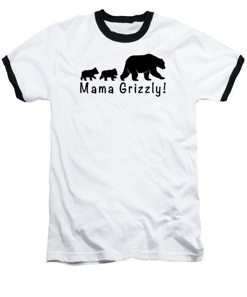 Mama Grizzly And Cubs Baseball T-Shirt