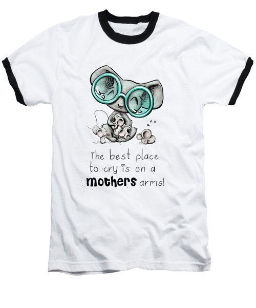 Baseball T-Shirt featuring the digital art Mamma Mouse by Lizzy Love