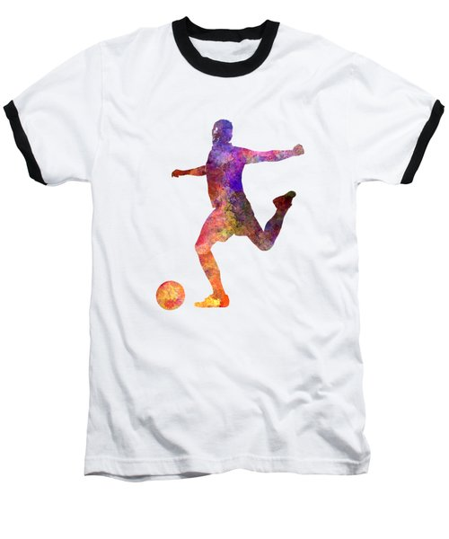 Man Soccer Football Player 03 Baseball T-Shirt by Pablo Romero