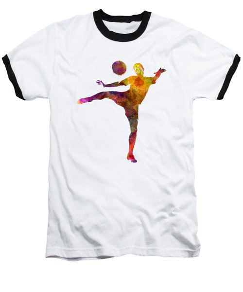 Man Soccer Football Player 07 Baseball T-Shirt by Pablo Romero