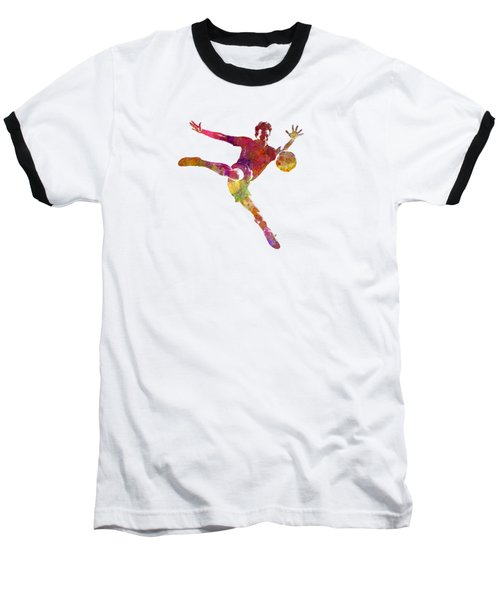 Man Soccer Football Player 08 Baseball T-Shirt by Pablo Romero