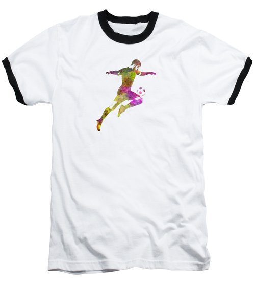 Man Soccer Football Player 12 Baseball T-Shirt by Pablo Romero