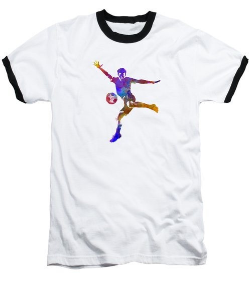 Man Soccer Football Player 14 Baseball T-Shirt by Pablo Romero